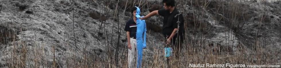 Naufuz Ramizez Figueira, Abstracicion Azul, 2012, VideoinsightHilary Pecis, Trouble around the corner, 2010, Collezione Videoinsight®